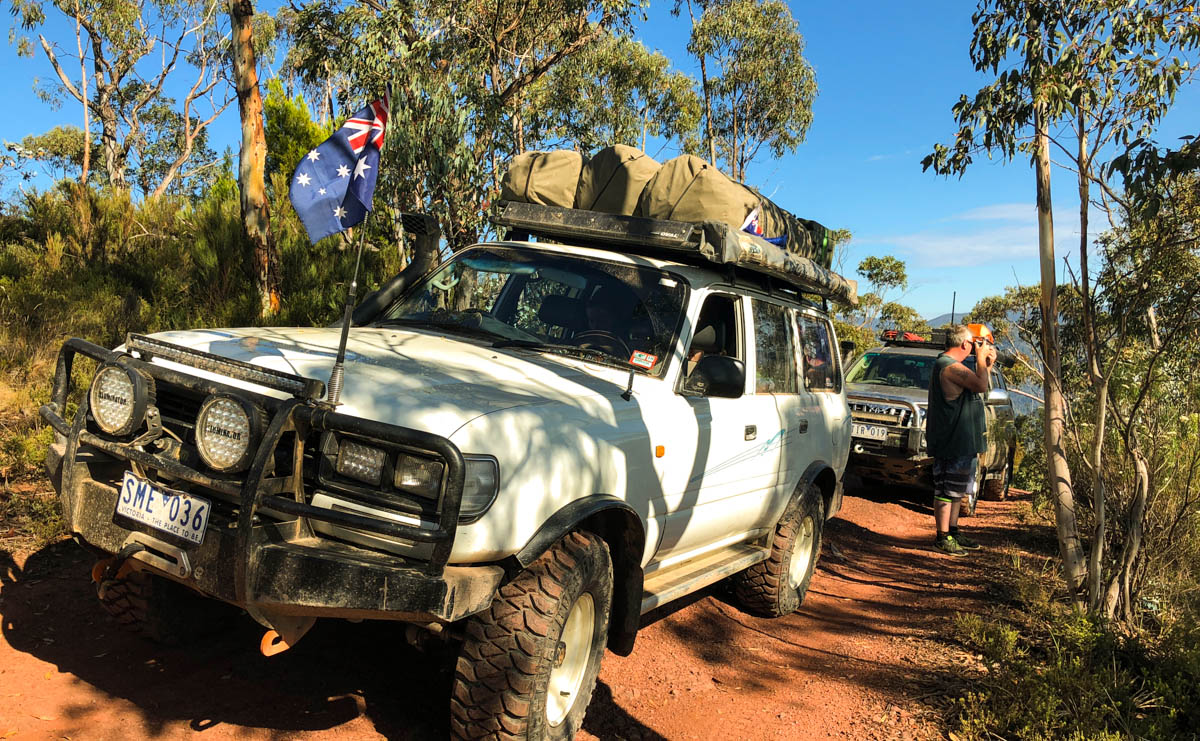 80 series landcruiser on Butcher Country Track