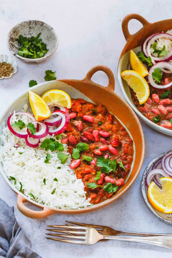 Kidney beans curry and rice