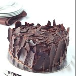 Chocolate Cake with Nutella Biscoff spread and frosted with shards