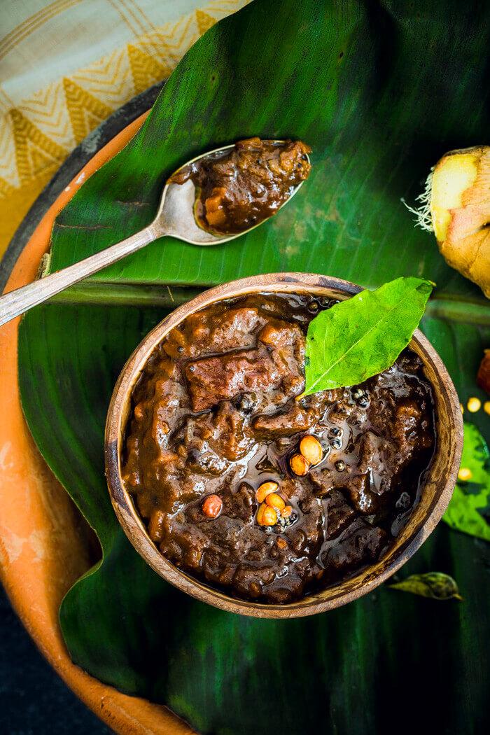 Puli Inji Recipe Image on Banana leaf