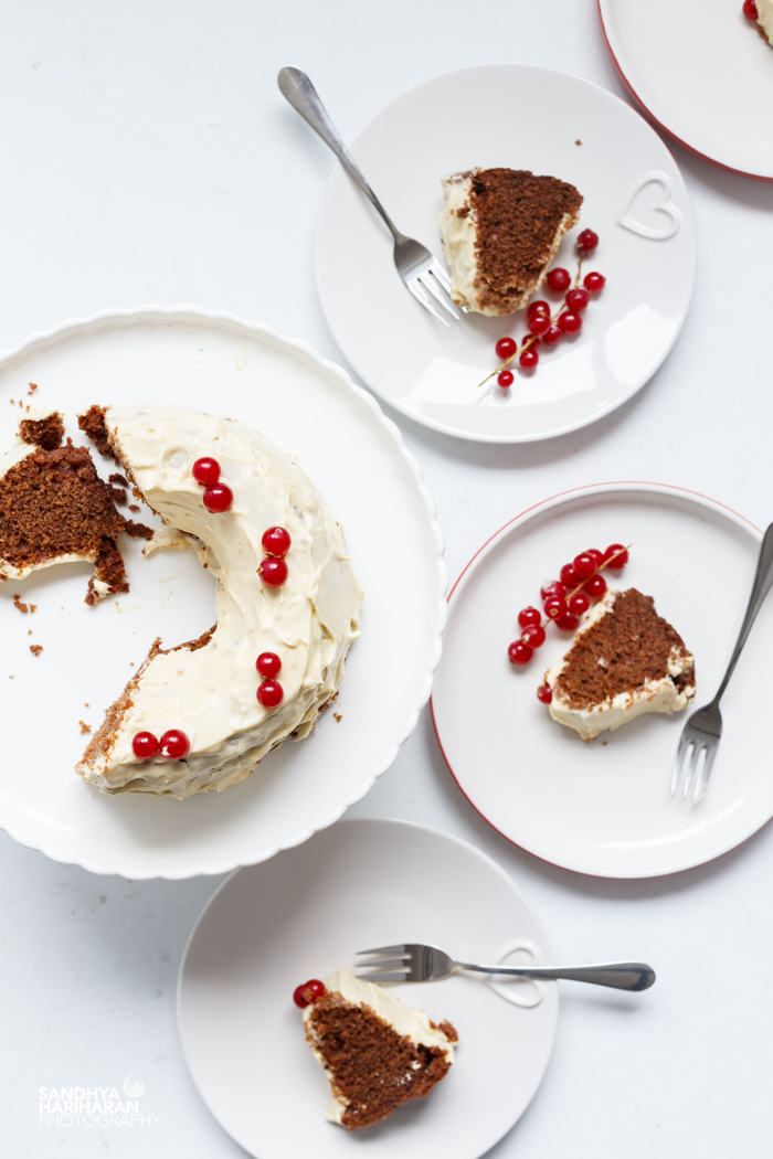 chocolate cake with cream cheese frosting recipe image