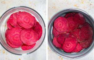 Beet Chips step by step