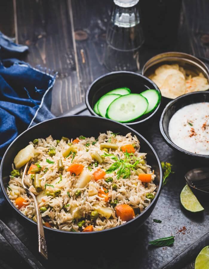 Vegetable Pulav Rice