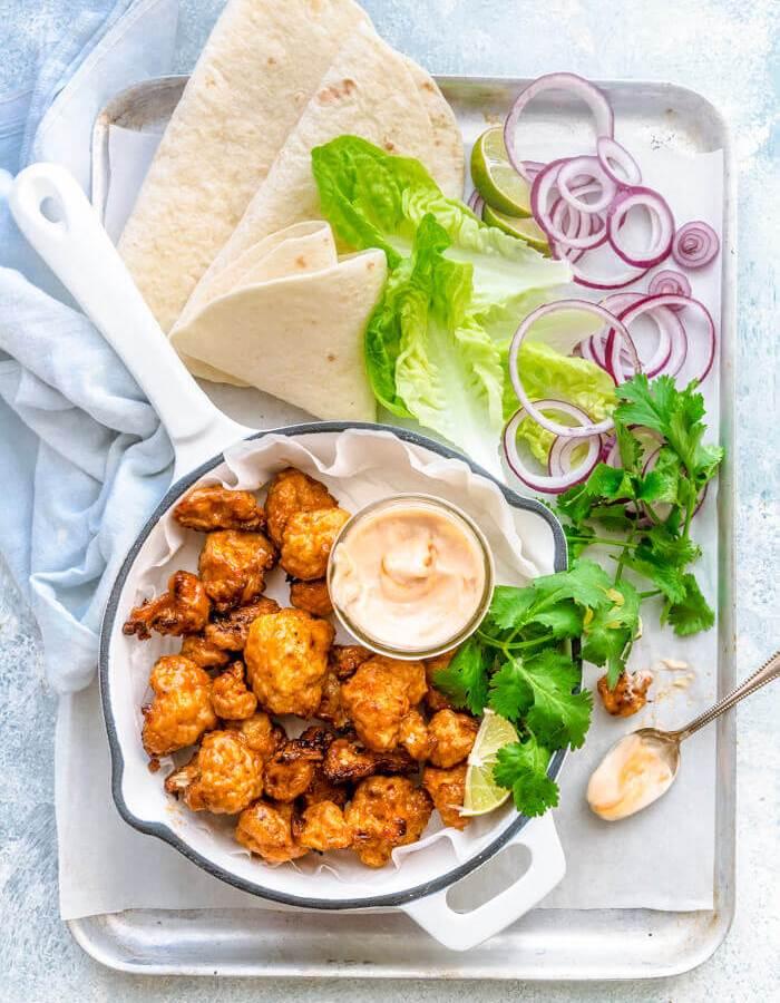 Airfryer Cauliflower Wings