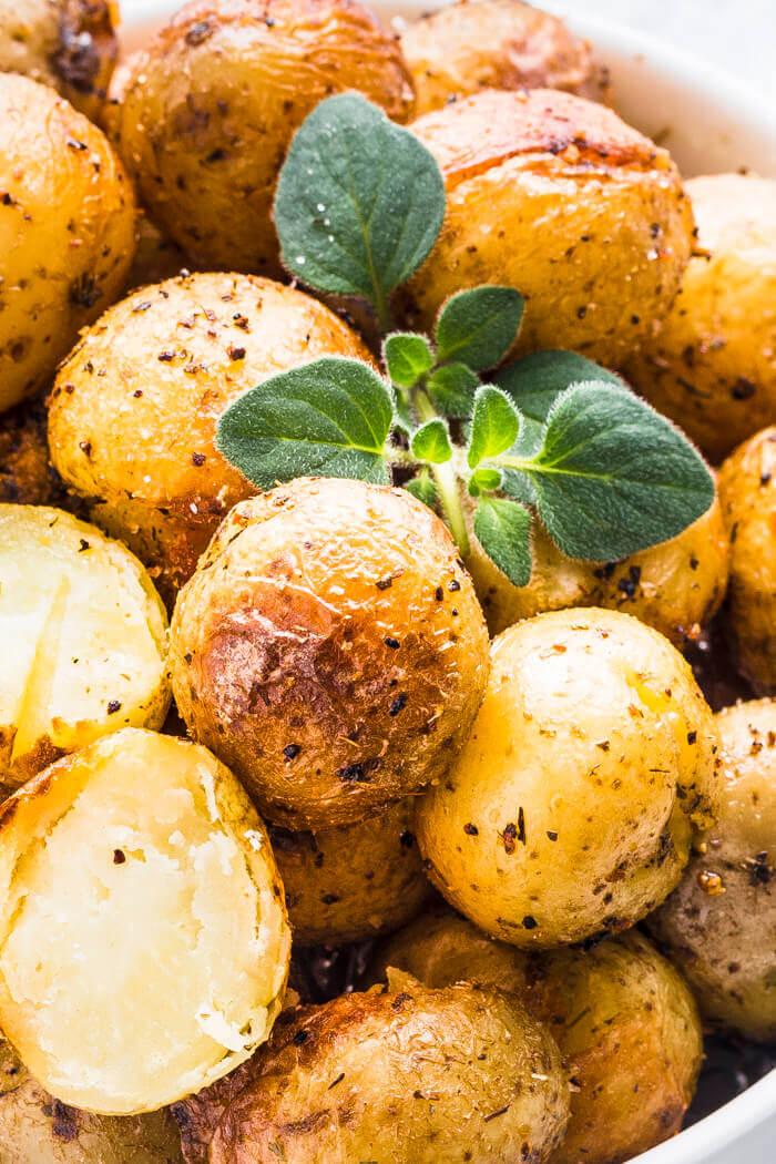 Instant Pot Garlic Herb Roasted Potatoes