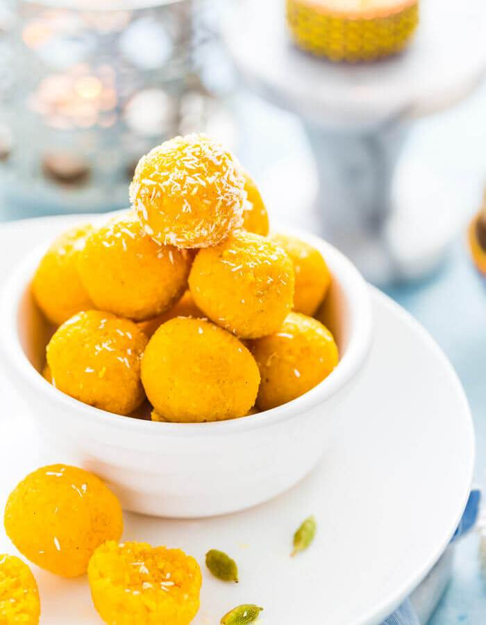 Mango Coconut Ladoo - Mango Ladoo