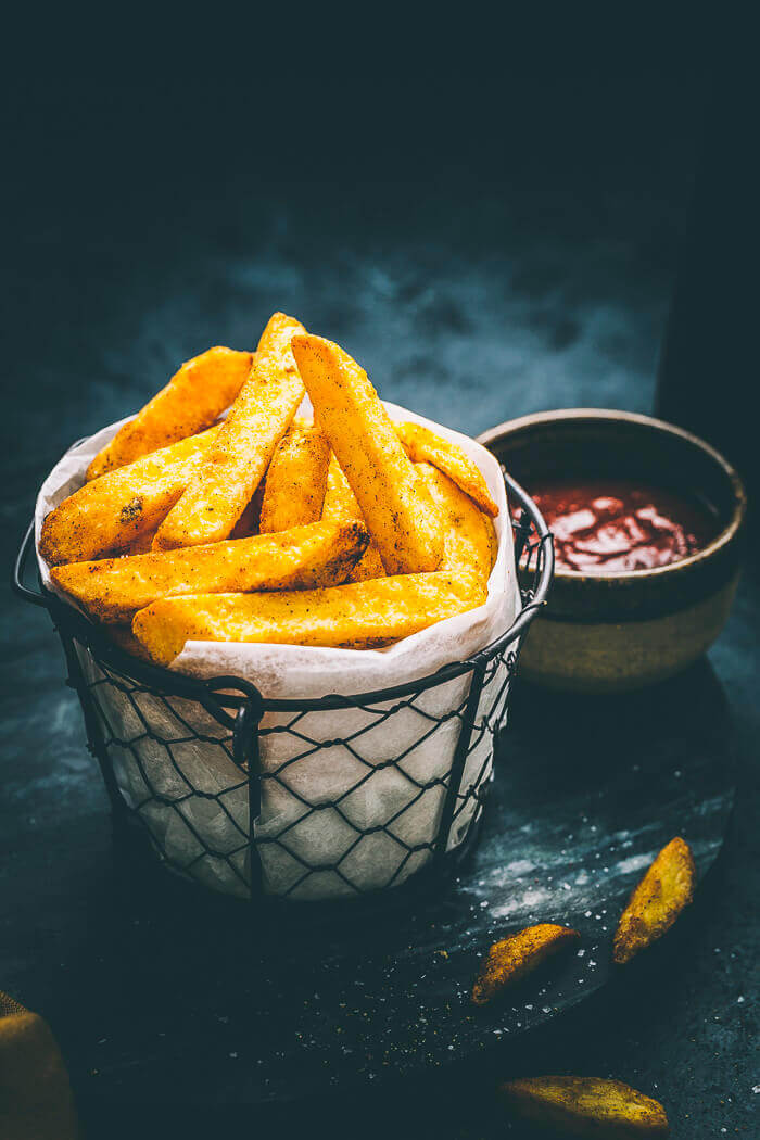 air fryer chunky chips recipe image