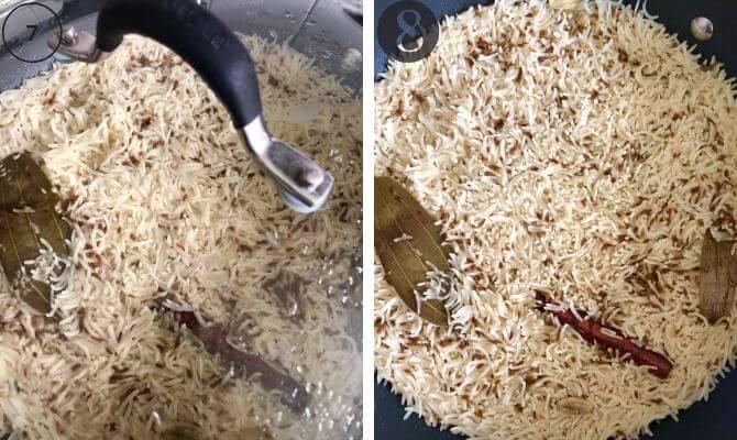 indian cumin rice step by step photos