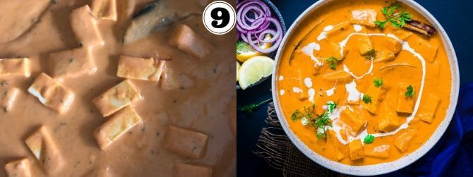 Paneer Butter Masala Step by Step