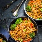 Instant Pot Vegetable Chow mein Noodles