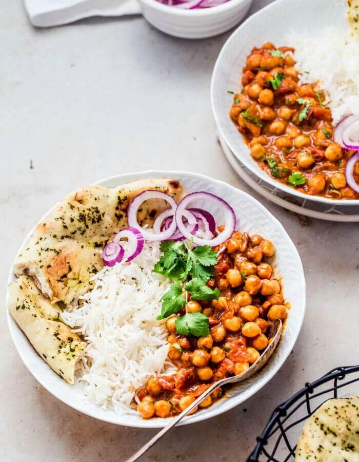 Vegan Tikka masala with Chickpeas