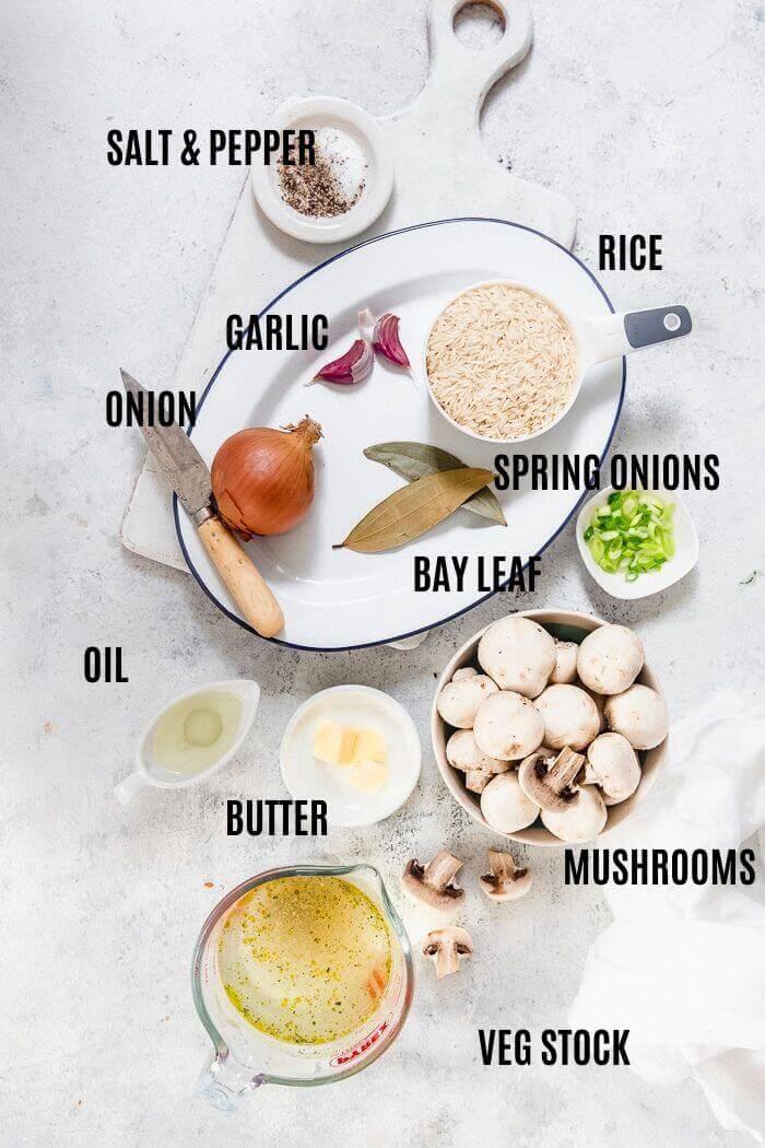 mushroom rice ingredients