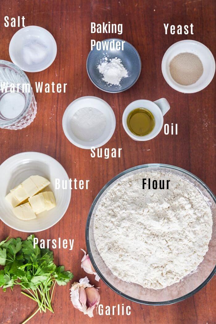 Ingredients for easy Garlic Knots Recipe