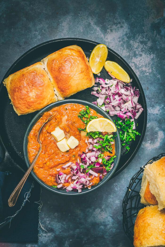 instant pot pav bhaji recipe image