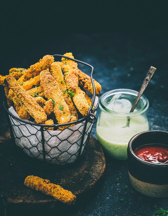 Instant Pot Airfryer Zucchini Fries Image