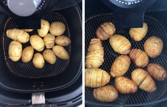 hassel back mini potatoes in philips airfryer