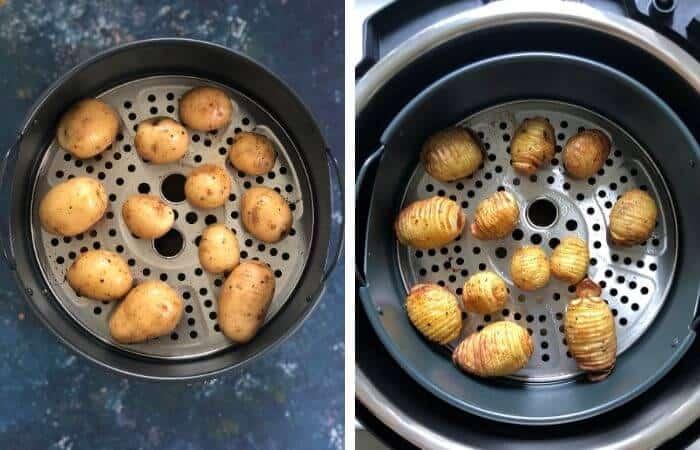 Instant Pot hasselback potatoes