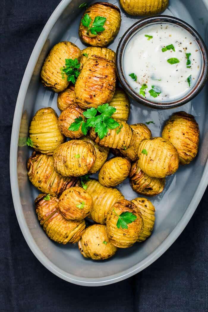 mini potato in serving dish