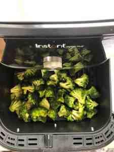 Add Broccoli Florets to Air fryer