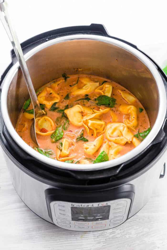 Tortellini Soup Pasta in Instant Pot