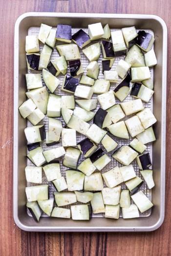 roast aubergine for curry