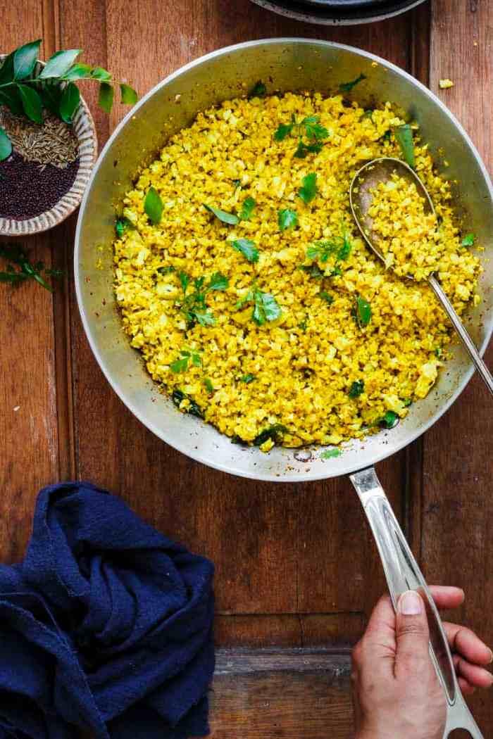 Skillet Indian cauliflower rice recipe