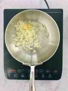add oil, onion,garlic