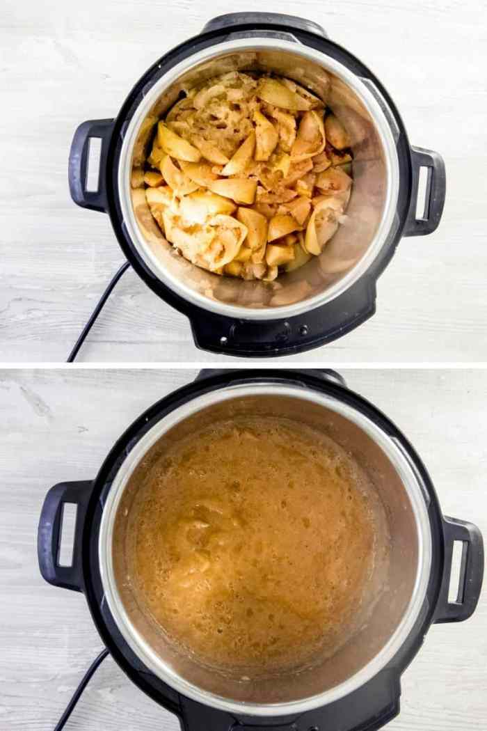 Step by Step method to make quick and easy vegan apple butter in instant pot