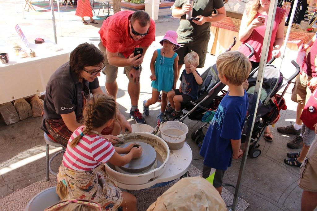 Making ceramics - Exhibit Maker Faire San Diego