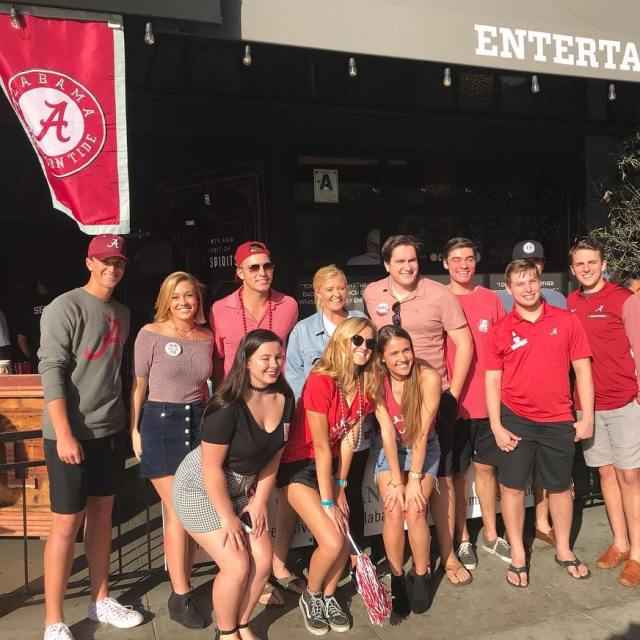 Current Bama students at bootleggersd today for the ironbowl rolltide