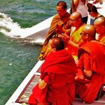 Buddhist Monks chanting - ashes at sea