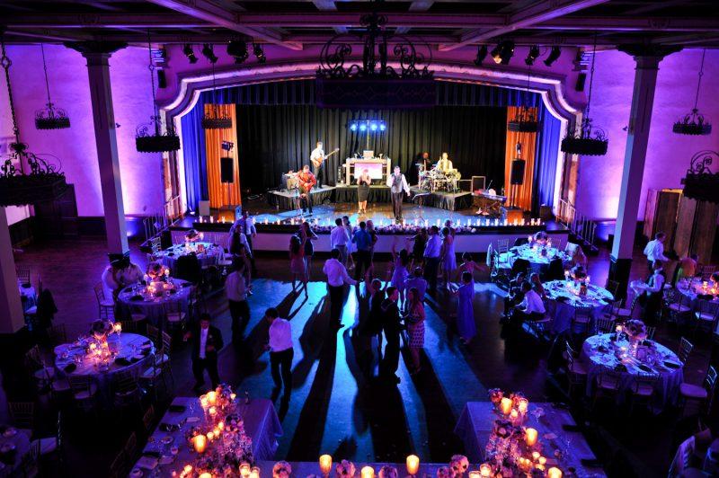 The Prado San Diego, Wedding Reception Lighting, Band Lights