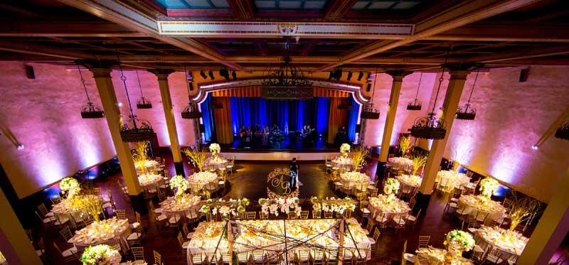 The Prado Wedding Lighting Specialists Uplights
