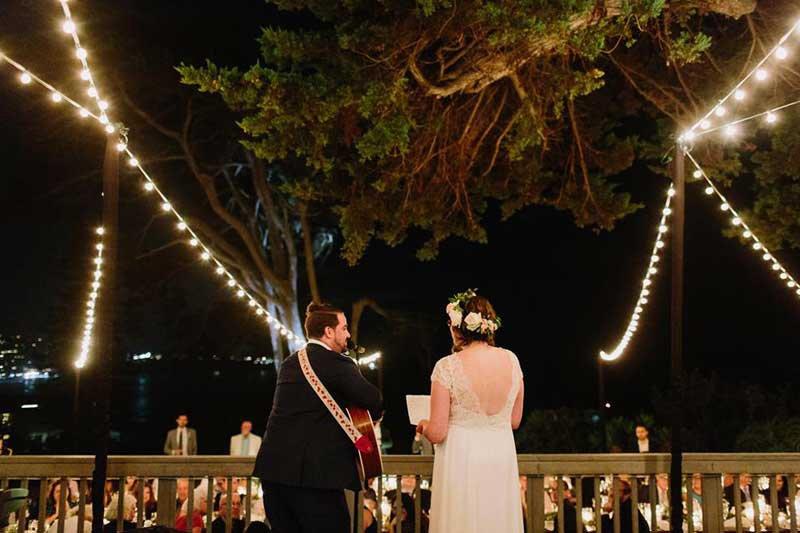 Martin Johnson House Wedding Lighting Market Lights Decks