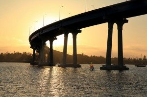 Coronado Bridge at Sunset