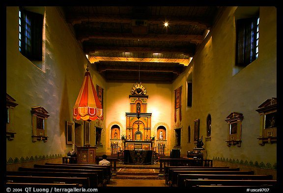 Chapel, Mission San Diego de Alcala. San Diego, California, USA