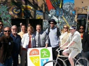 Mayor Filner Announces CicloSDias with the Living Streets Coalition.Photo: Move San Diego
