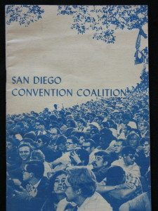 1972 pamphlet printed for the San Diego Convention Coalition by the Fanshen Collective.  The Republican Party ended up canceling the convention in S.D.