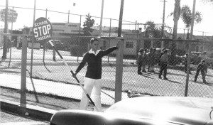 Jr. Traffic Patrol boy at Brooklyn Elementary School in 1954.