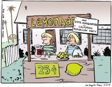 GOP cartoon lemonstand