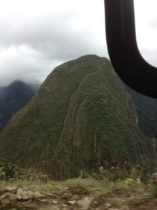 Happy Mountain from the bus going up to Machu Picchu.