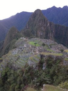 Machu Picchu with no one on it