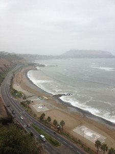 View from the top of the Miraflores cliff.