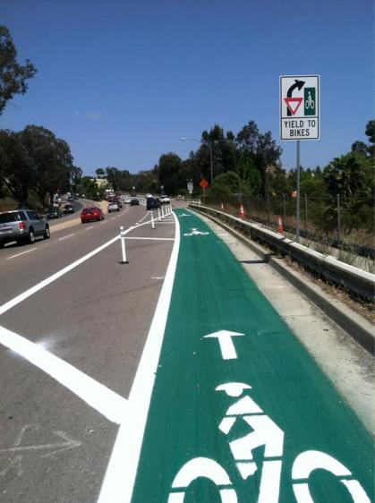 Bicycle lanes City Heights