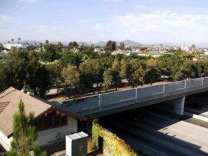 Park over I-15 between Univ. and El Cajon