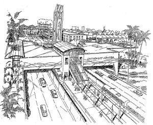 Artist rendering of commercial development on I-15 cover