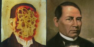 Double portrait of Benito Juarez by Raul Gonzalez III