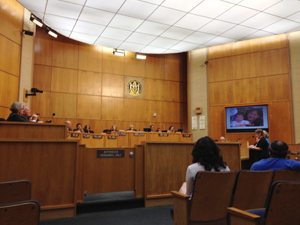The EHC calls out maritime industry's lies at the City Council meeting.