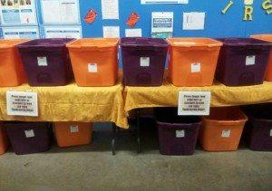 Walmart food bins