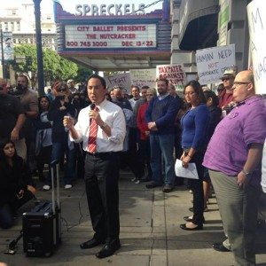 "Union ""Goon"" Todd Gloria in solidarity with fast food workers"